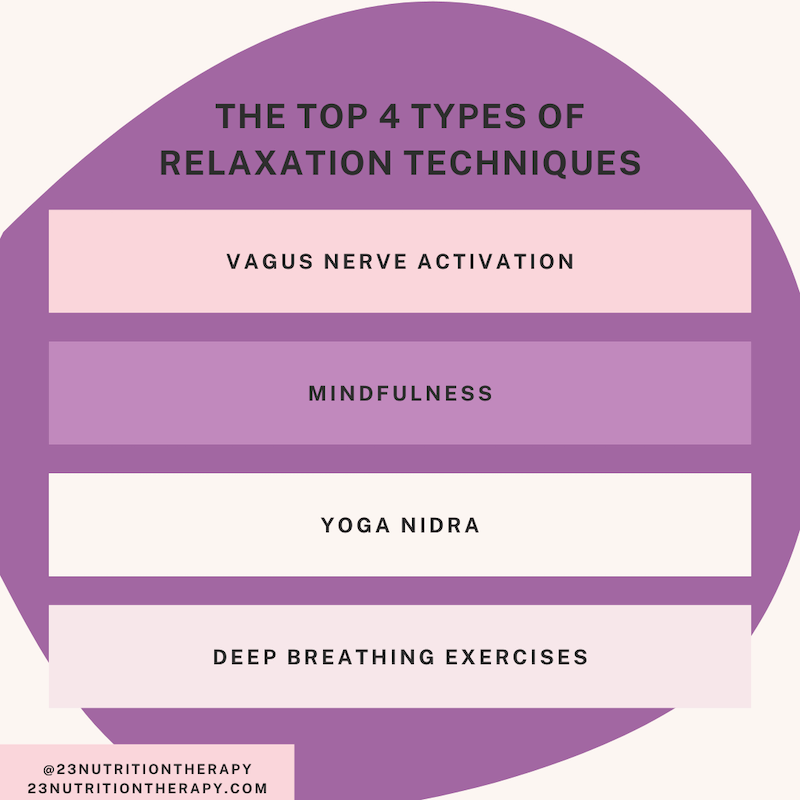 the top 4 types of relaxation techniques