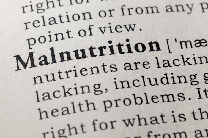 zoom in on malnutrition entry in the dictionary